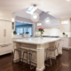 classic kitchen counter seating by Joan Bigg kitchen design lawrence farms westchester ny