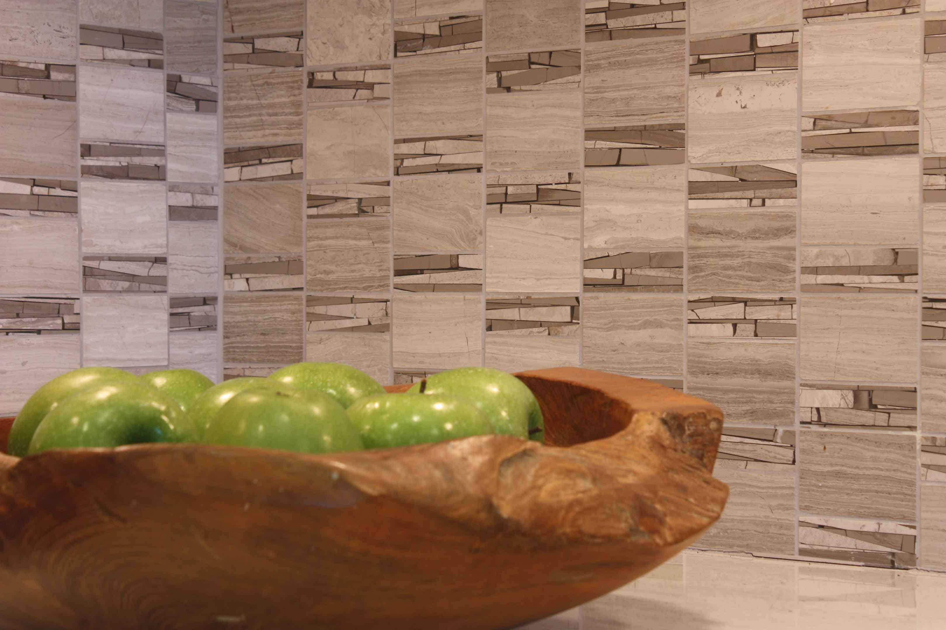 detail of apples in bowl in contemporary kitchen joan bigg kitchen choreography kitchen design ny metro area