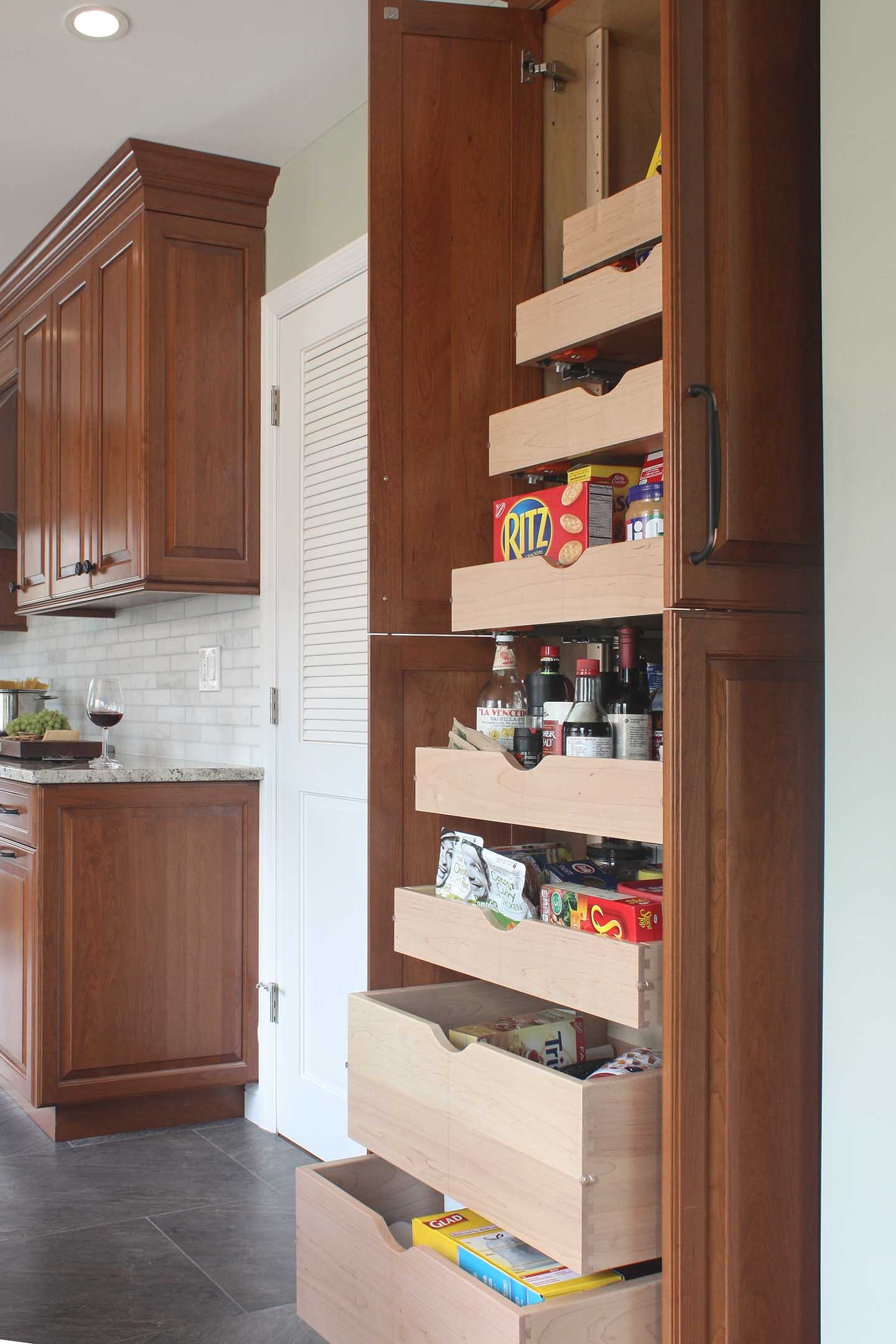 kitchen pantry designed by Joan Bigg indoor and outdoor kitchen design cortlandt manor westchester county ny