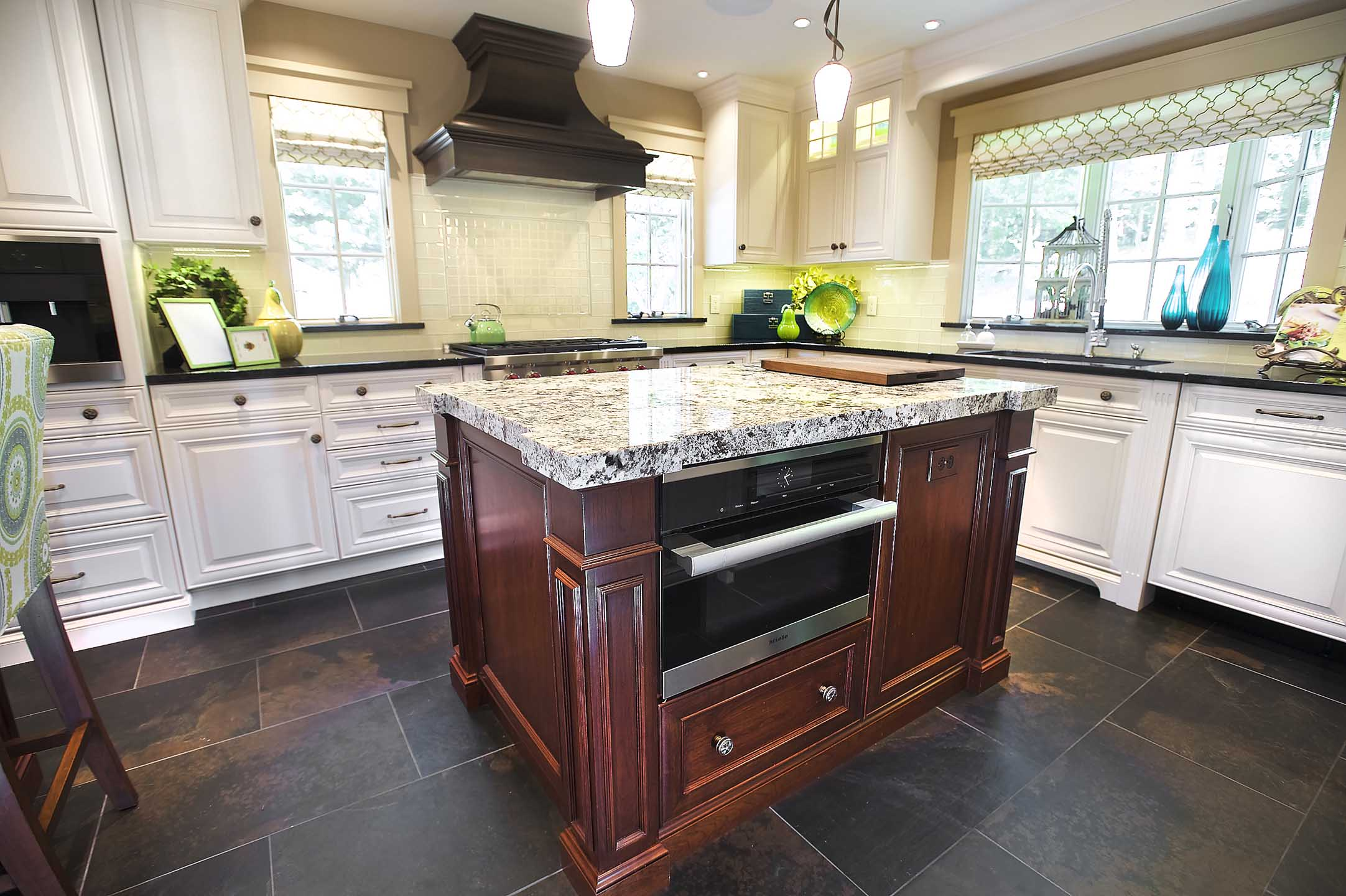 classic remodeled kitchen with Kountry Kraft Cabinetry by joan bigg kitchen designer westchester county ny