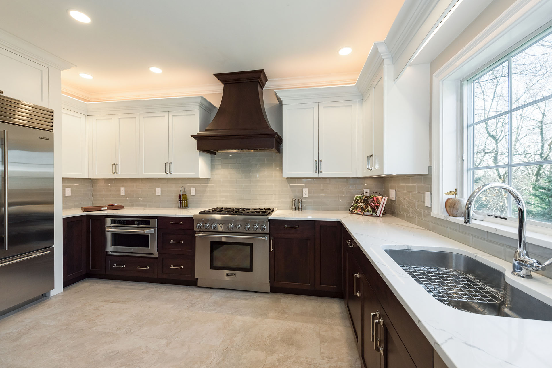 kitchen designed by Joan Bigg kitchen choreography kitchen design Kountry Kraft Cabinetry ny metro area