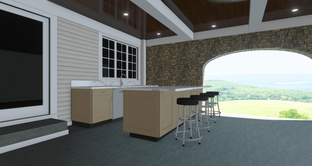joan bigg outdoor kitchen designer kitchen rendering fairfield county ct